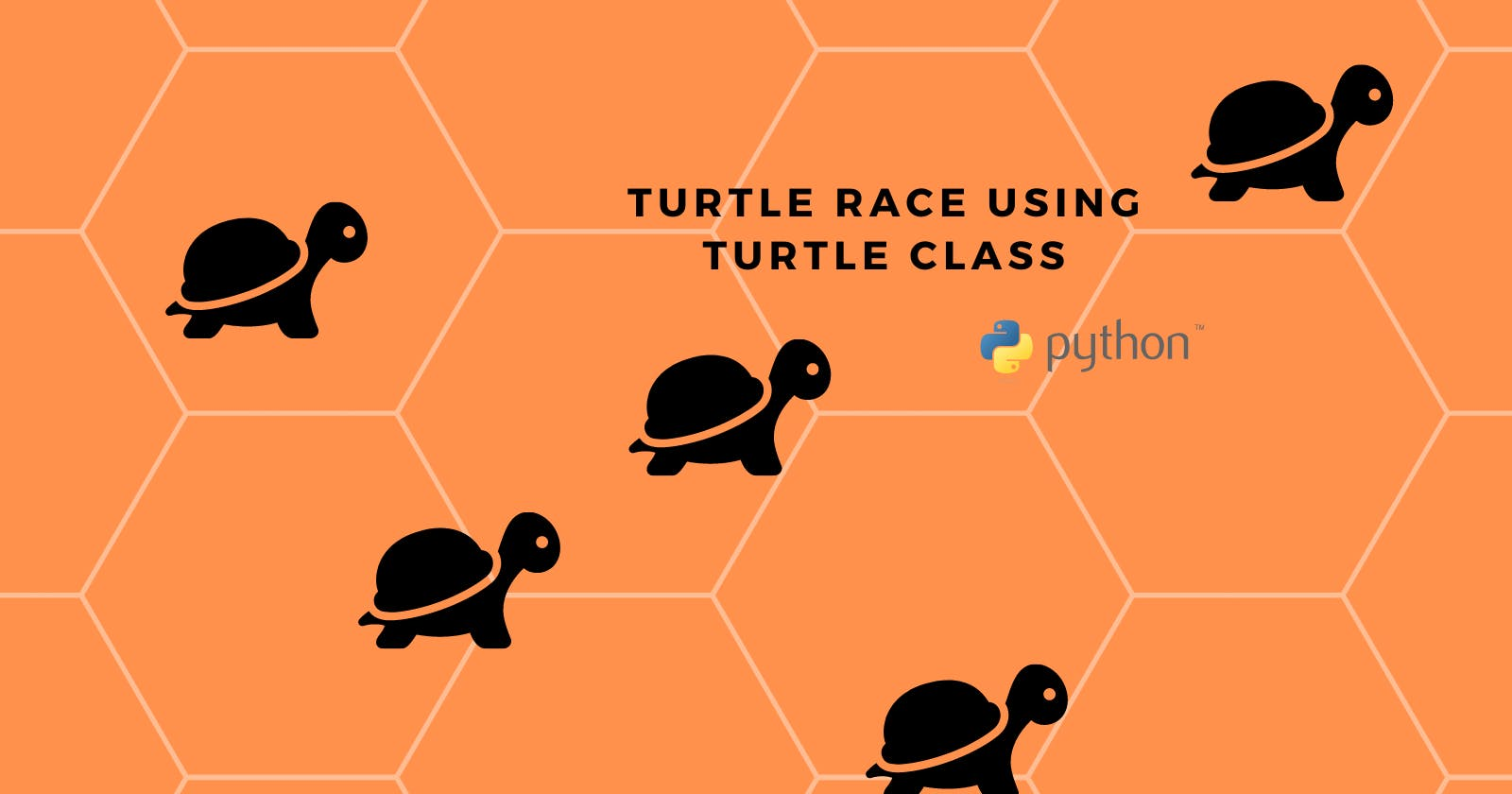 Turtle Race game in Python using Turtle class!