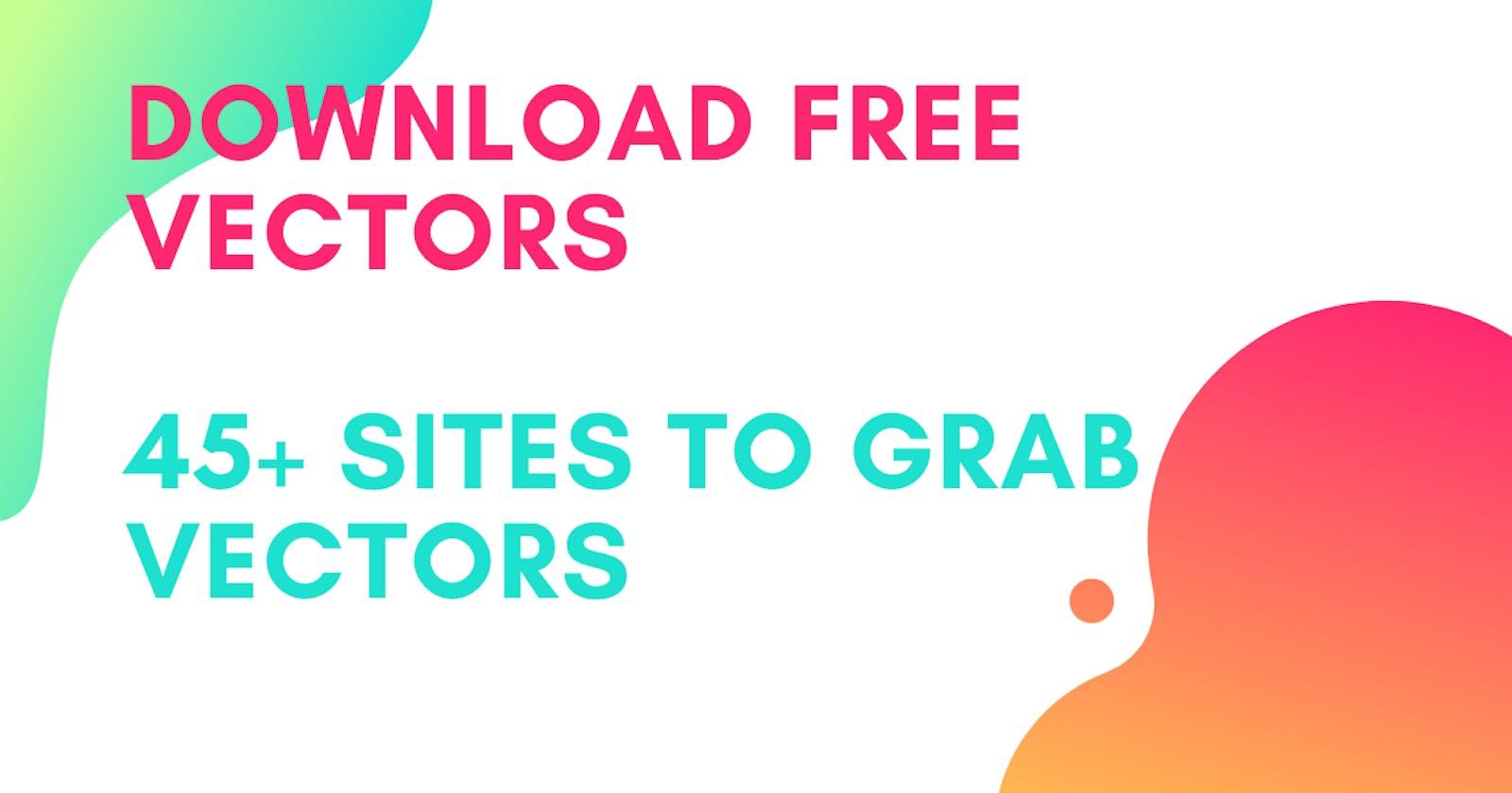 List Of Free Vectors Web sites