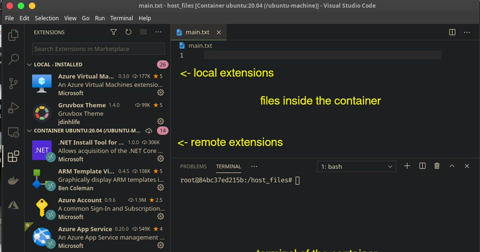 Hand-On—Containerizing Development Environment with Visual Studio Code