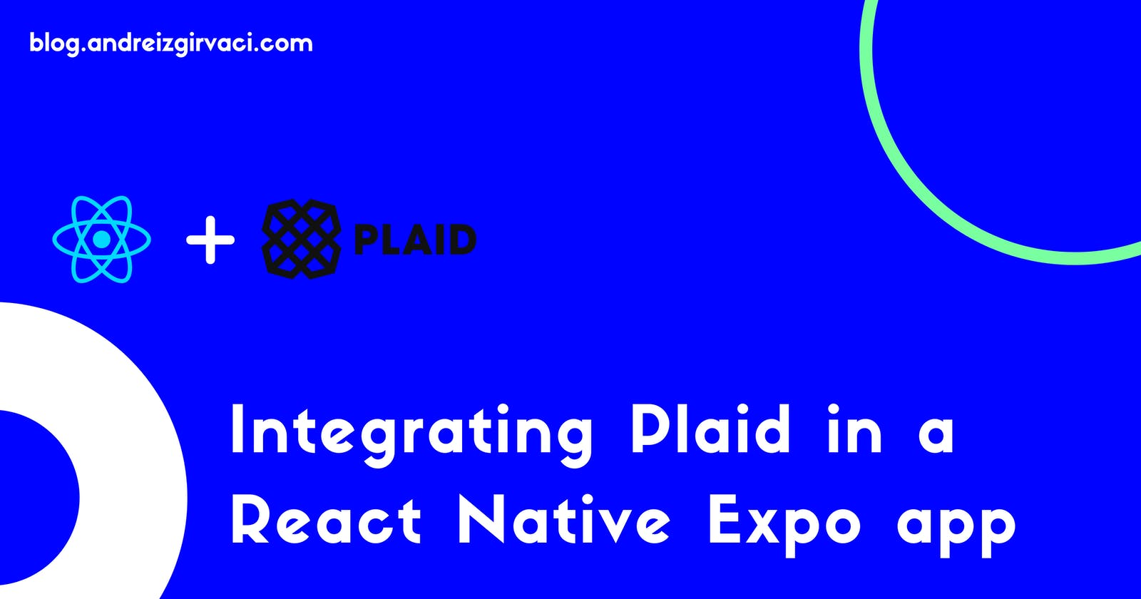 Integrating Plaid in a React Native Expo app