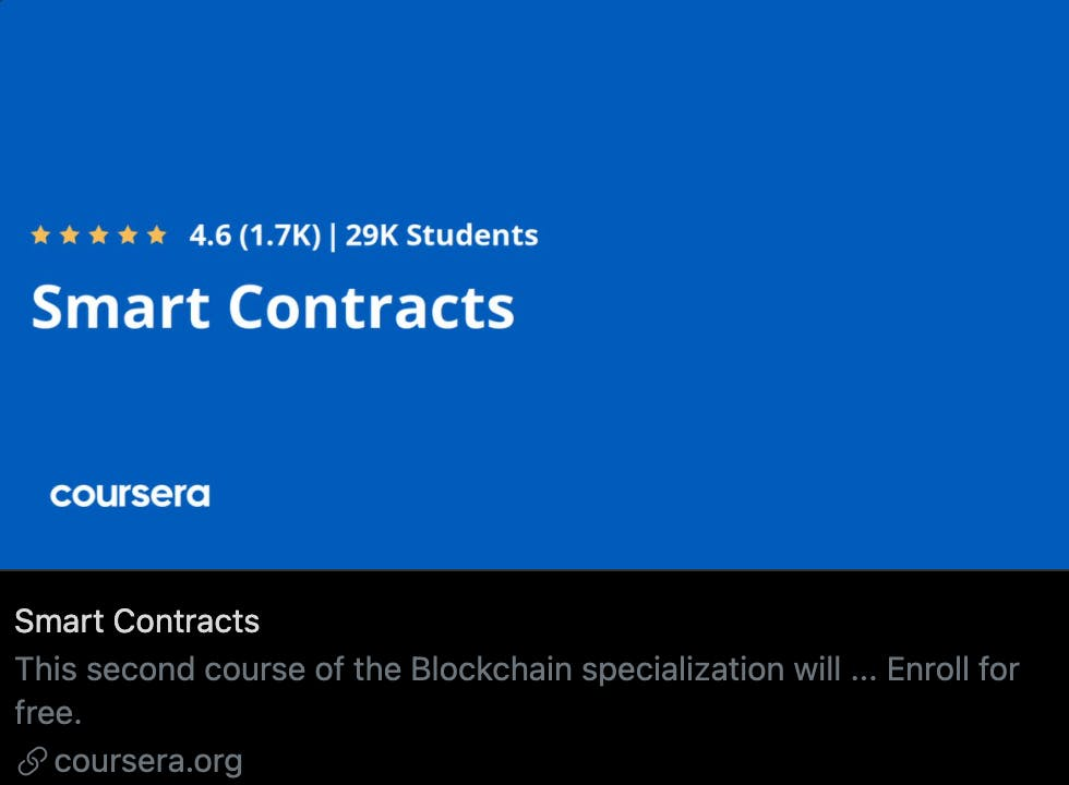 This course of the Blockchain specialization will help you design, code, deploy and execute a smart contract