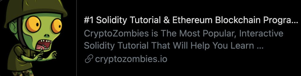Crypto Zombies. Learn Solidity by playing a game.