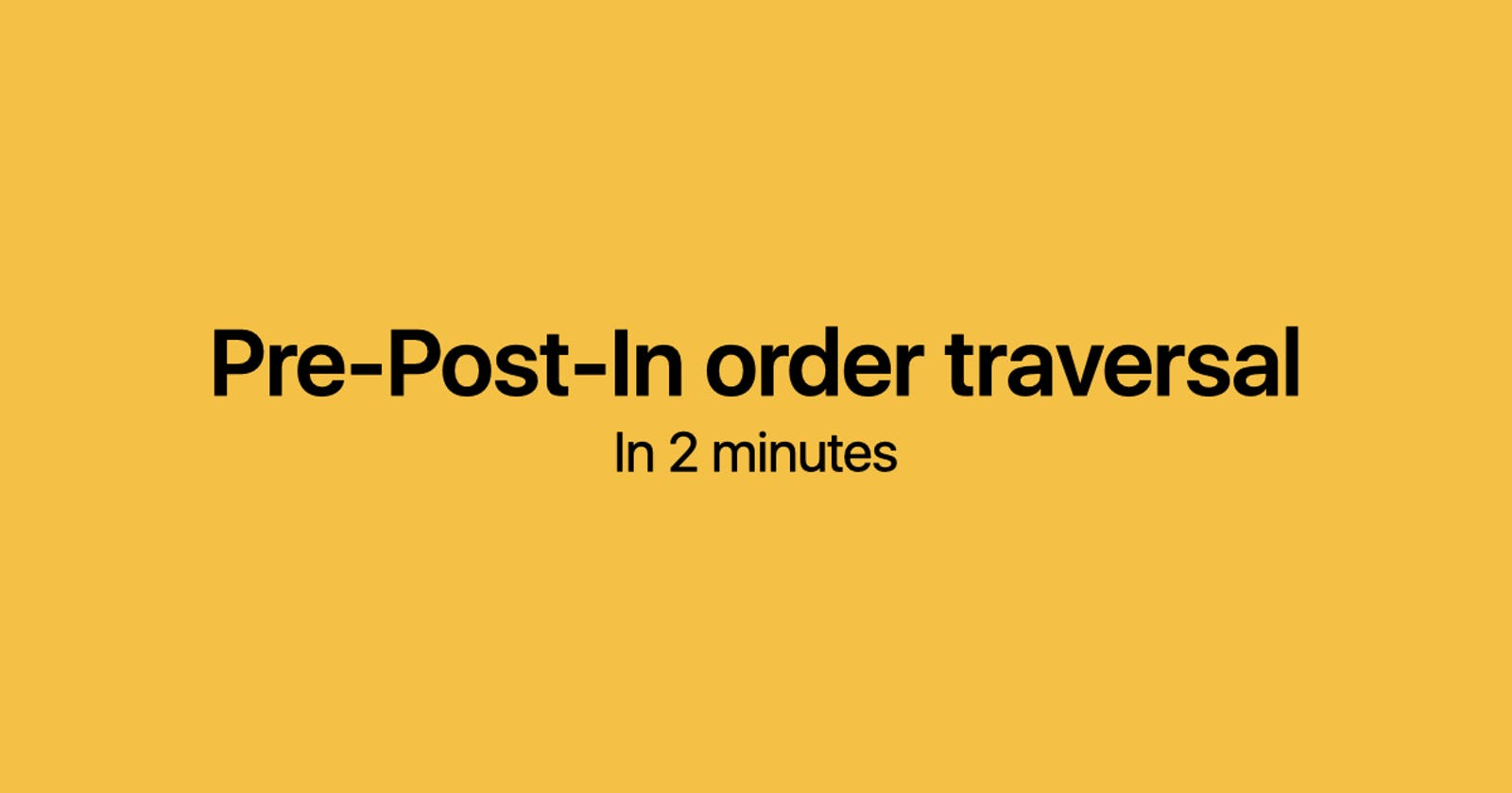 Pre order, In order and Post Order Traversal under 2 minutes