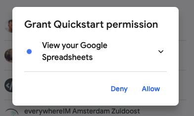 Google prompt access