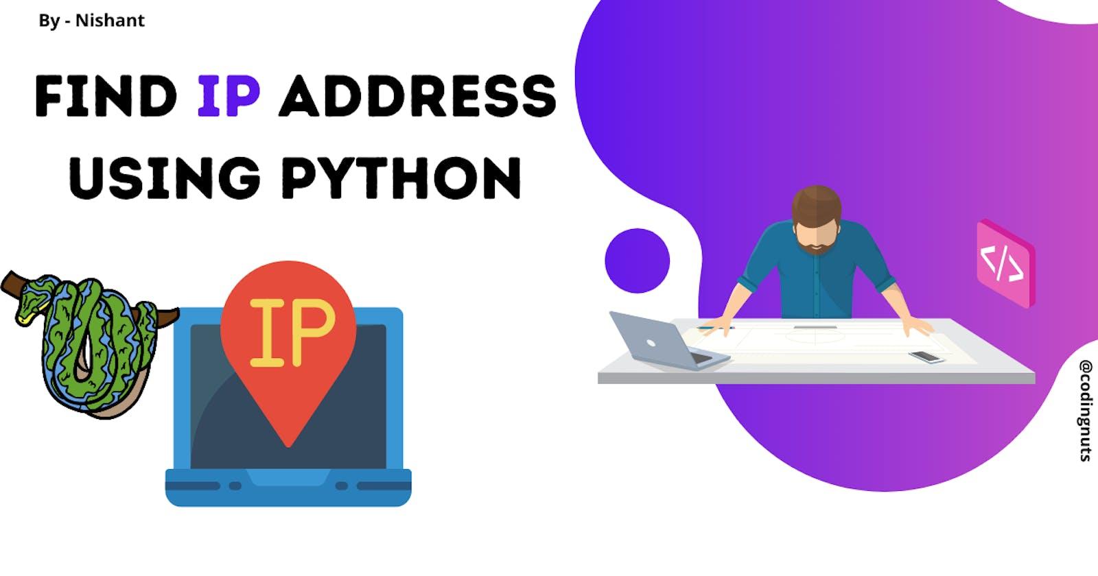 Display Hostname and IP address using Python