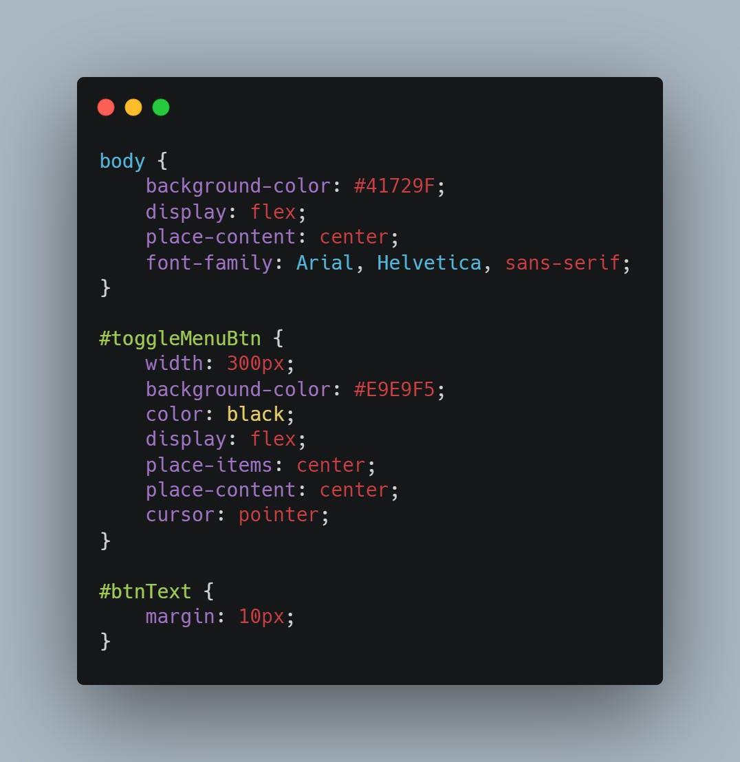 starting css code
