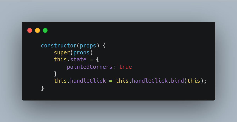 bind the handleClick method