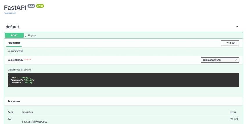 Interactive API docs by FastAPI