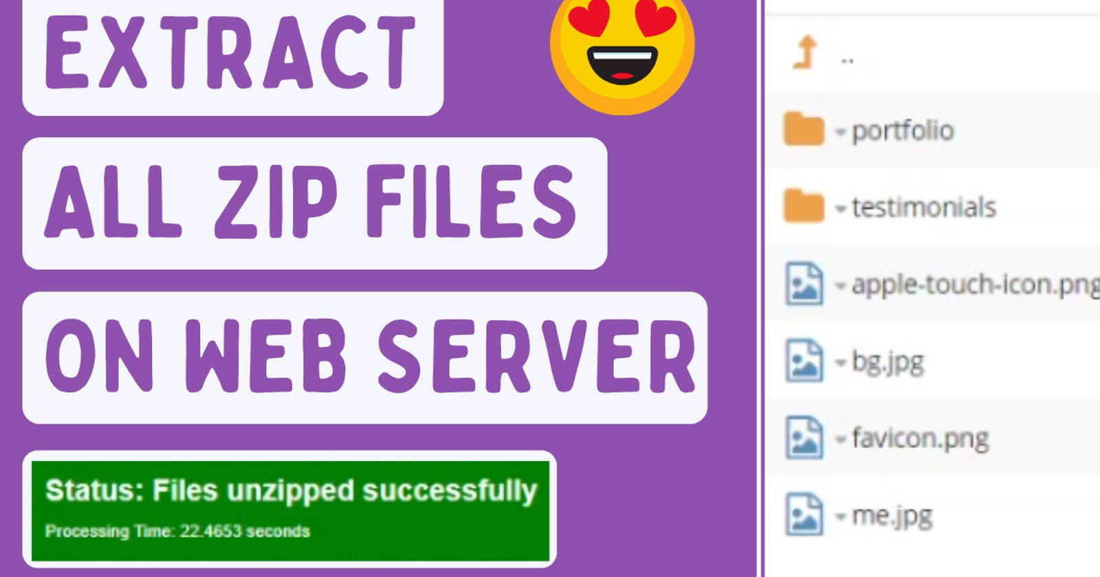 How to Extract All Zip Files on Web Server