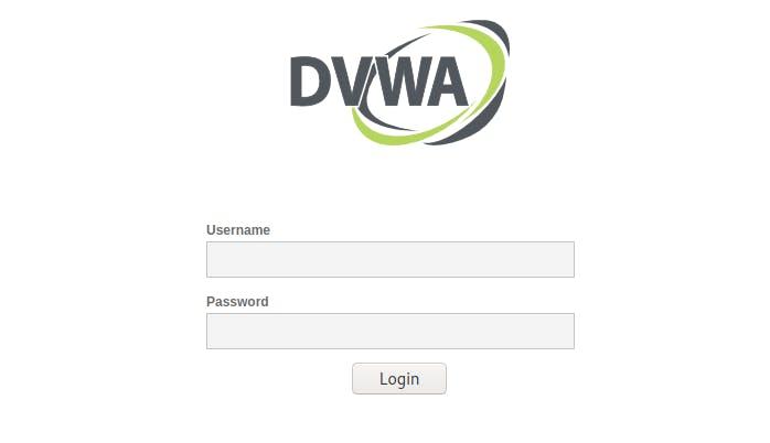 DVWA login page