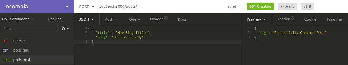 Post Create API Test