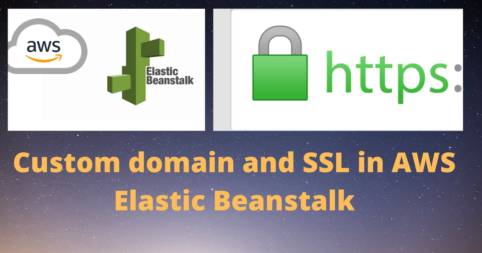 Add a custom domain to the elastic beanstalk and enable SSL