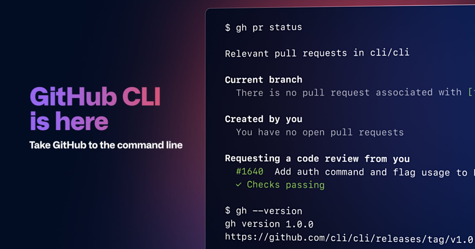 Control your Github from the command line with the Github CLI