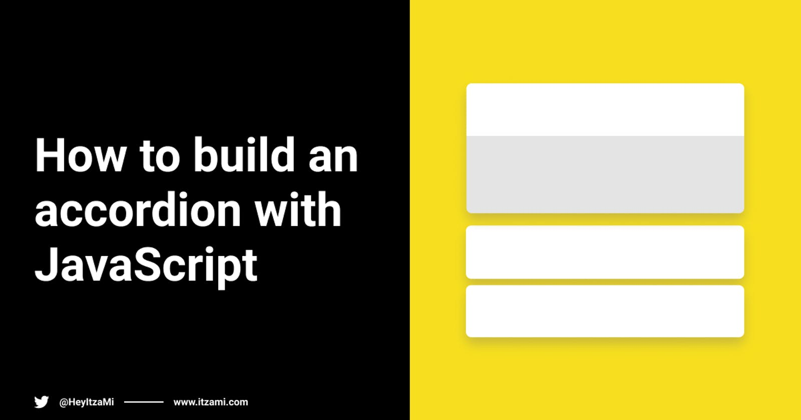 How to build an accordion with JavaScript