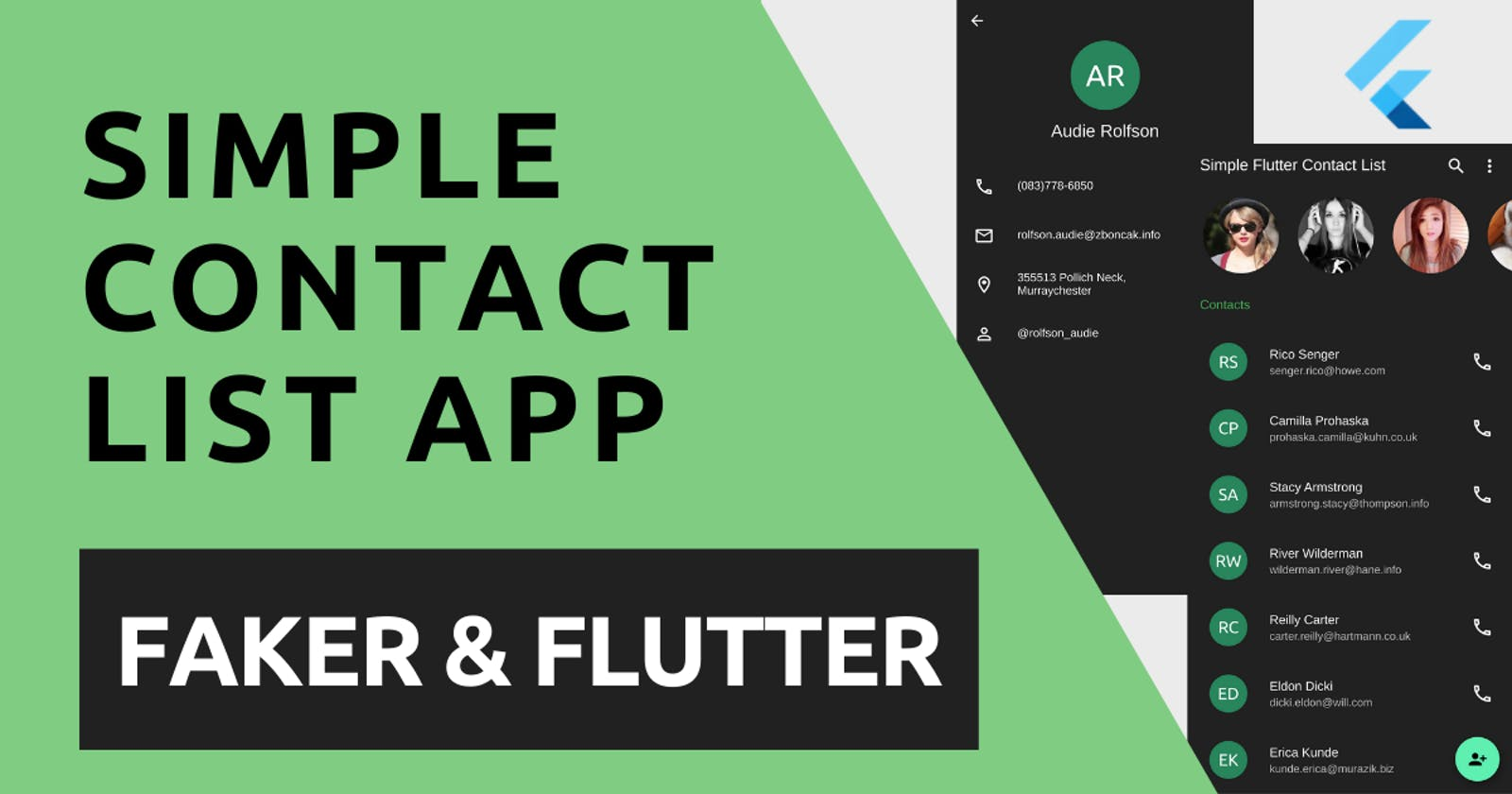 Create a Simple Contact App with Faker & Flutter
