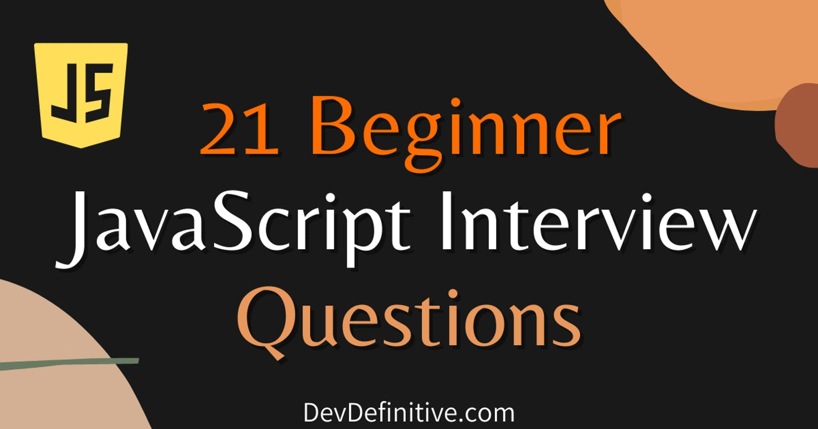 21 beginner JavaScript interview question you must know