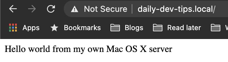 Mac OS X Virtual Host server