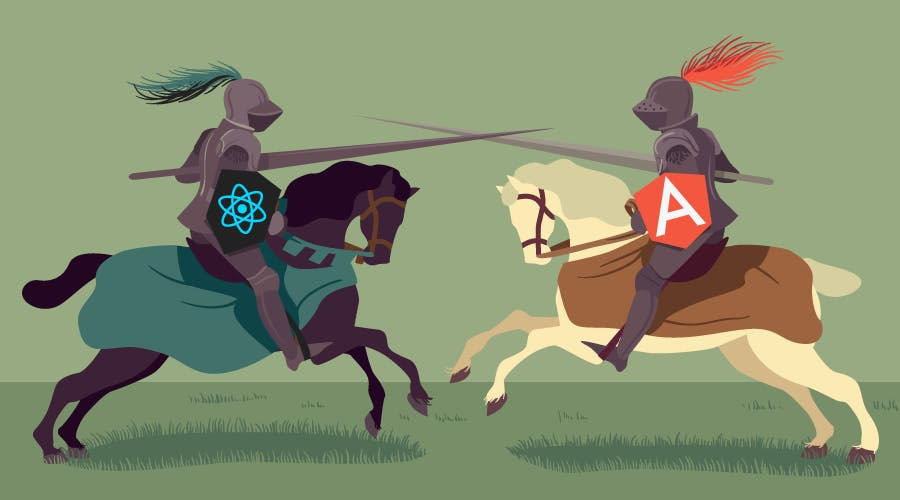 battle of the knights react and angular