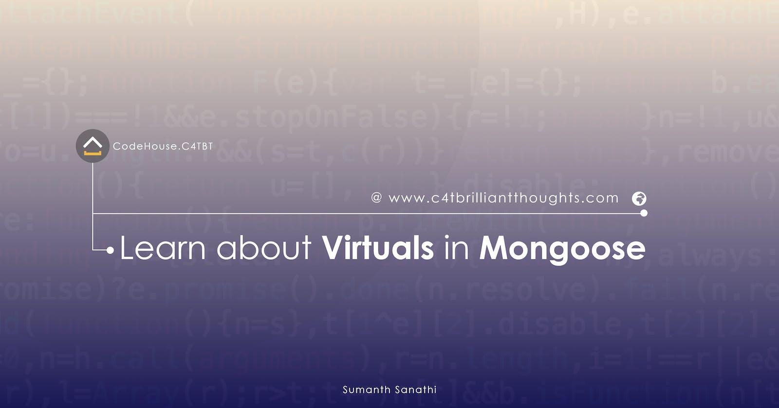 Virtuals in Mongoose