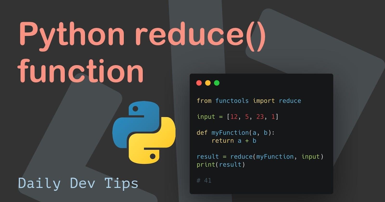 Python reduce() function