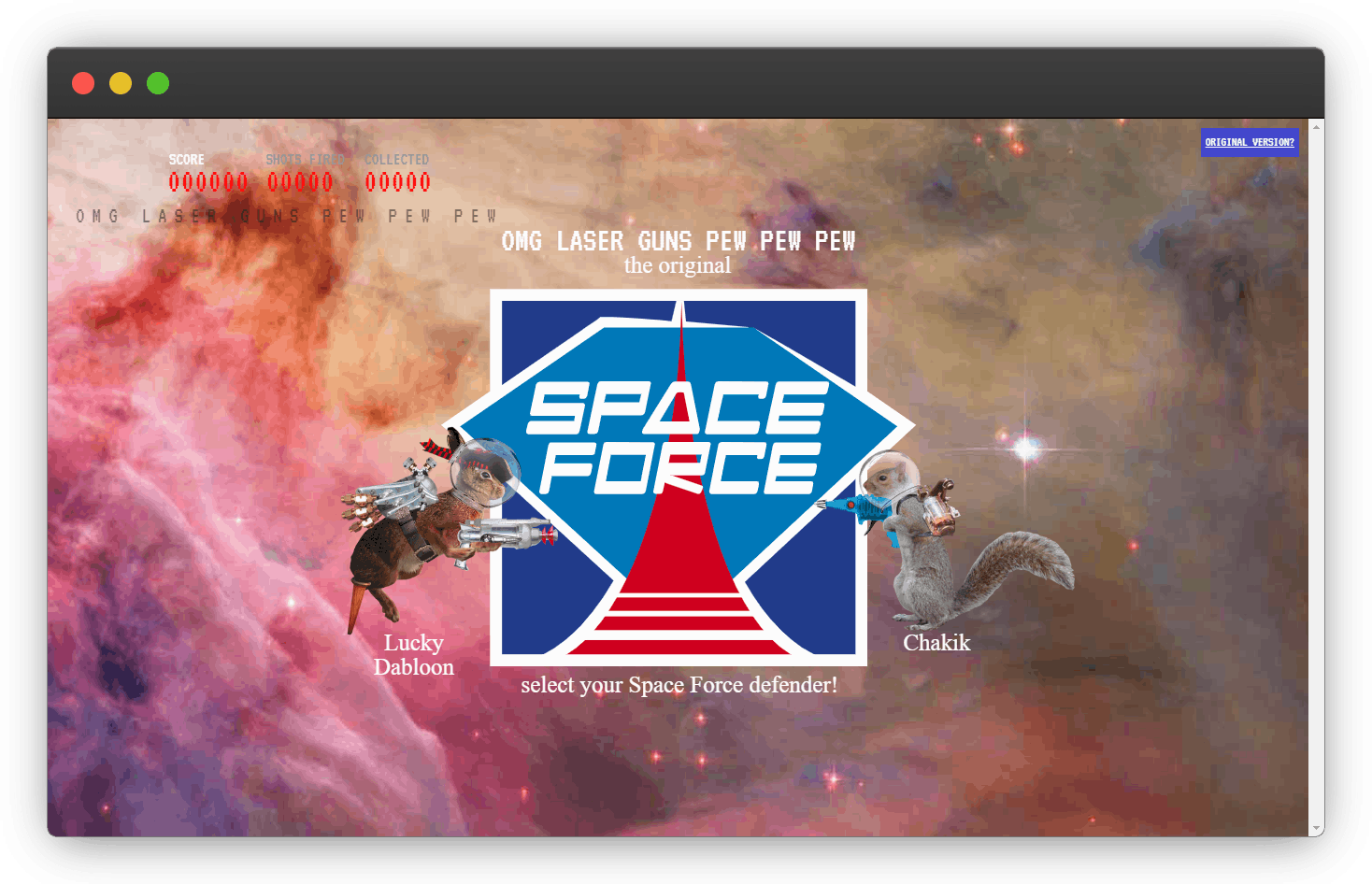 Space force landing page