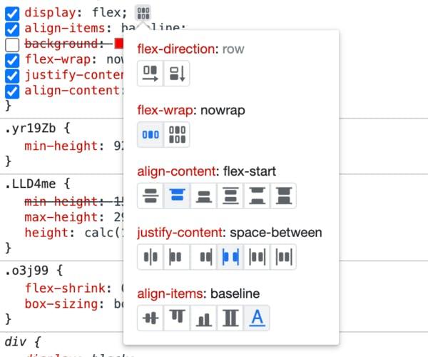 Flexbox debugging tool