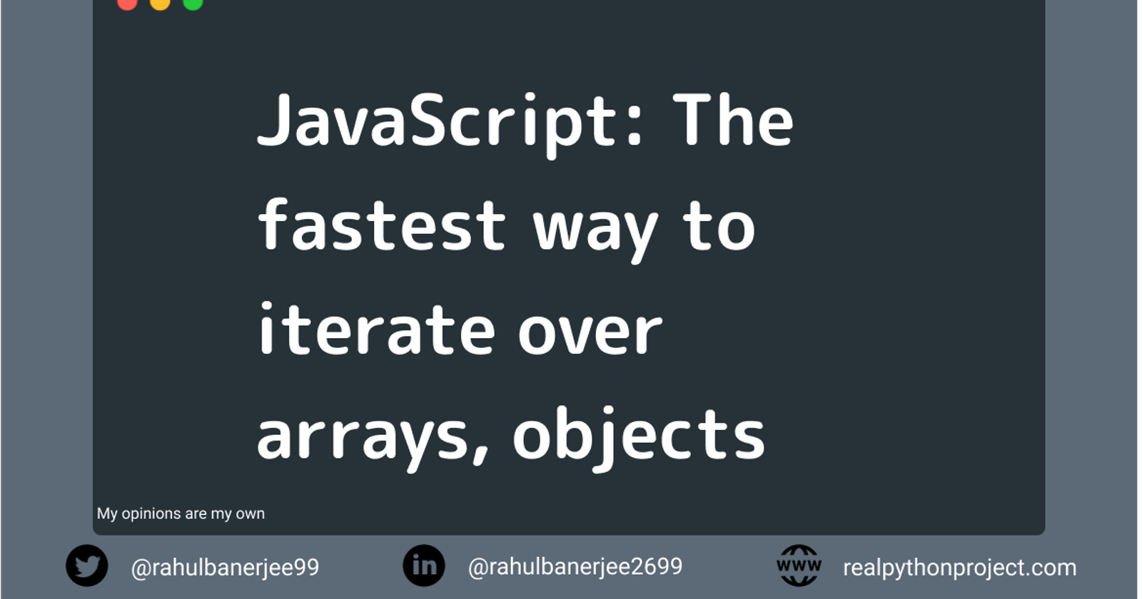 JavaScript: Do you know the fastest way to iterate over arrays, objects?