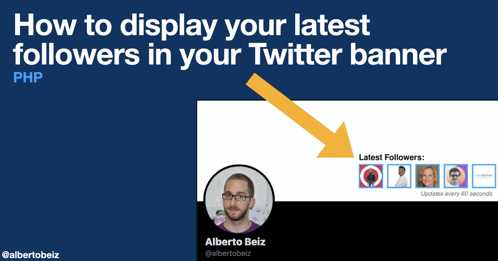 How to display your latest followers in your Twitter banner