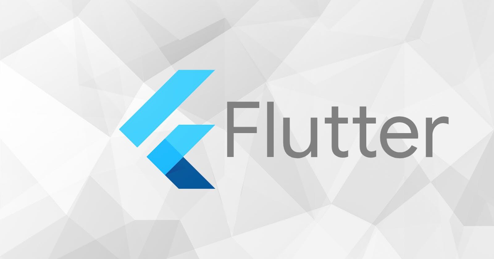 Let's get started with Flutter