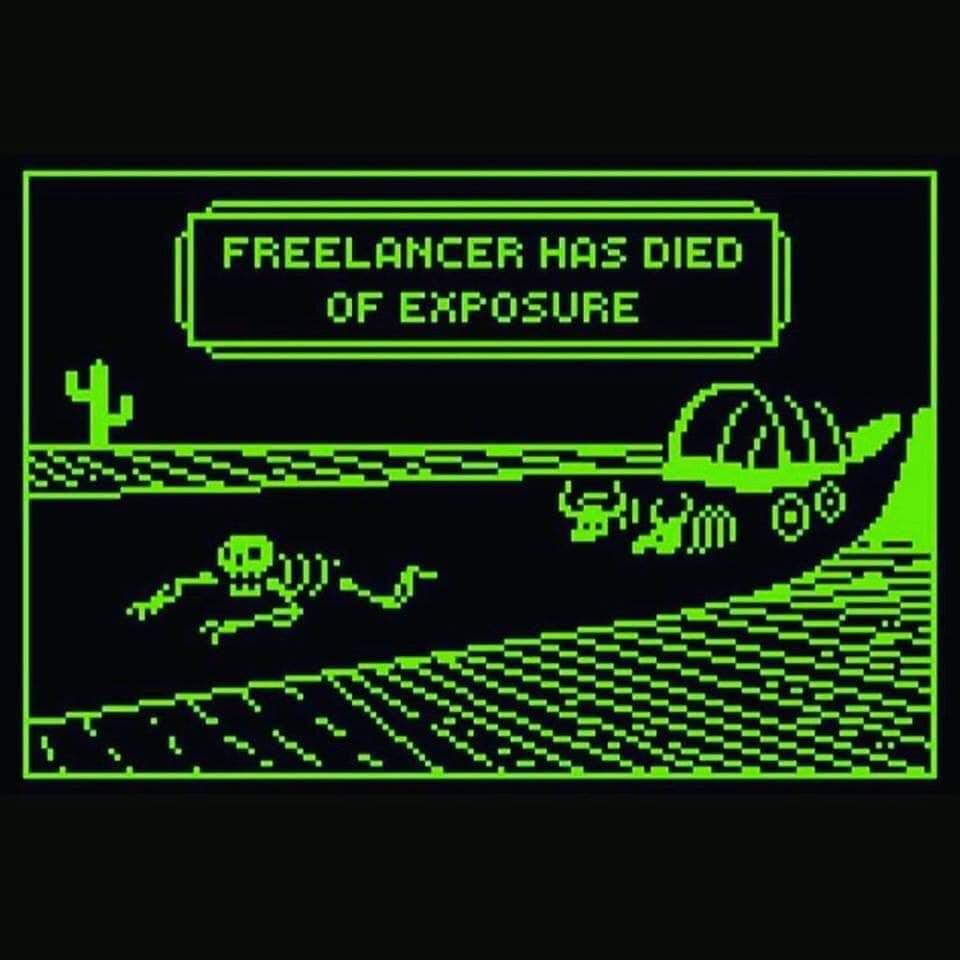 Freelancer has died of exposure