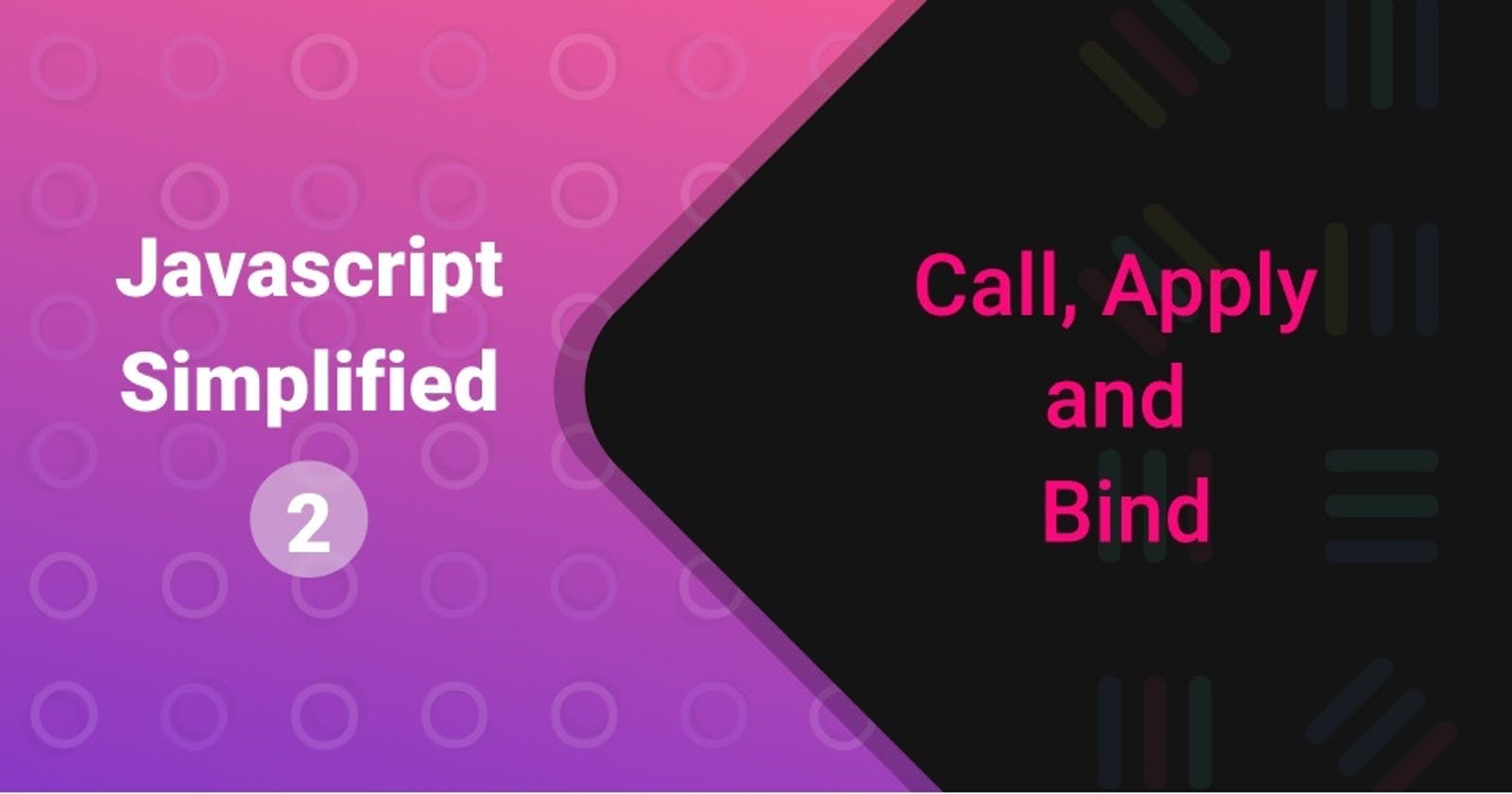 Call, apply and bind in JS