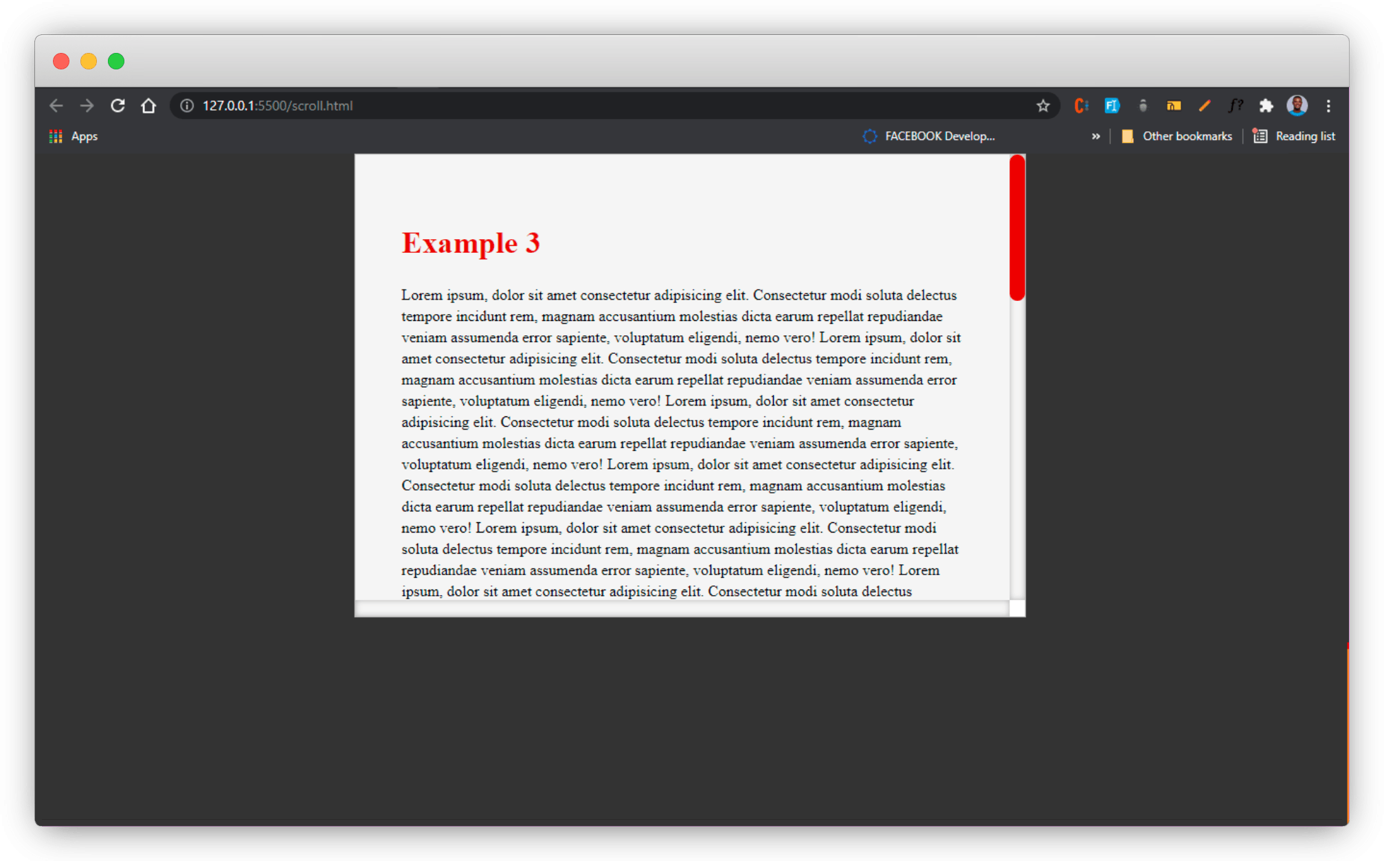 example 3 on browser