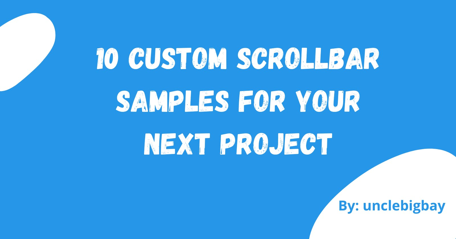 10 Custom Scrollbar Samples for your next project