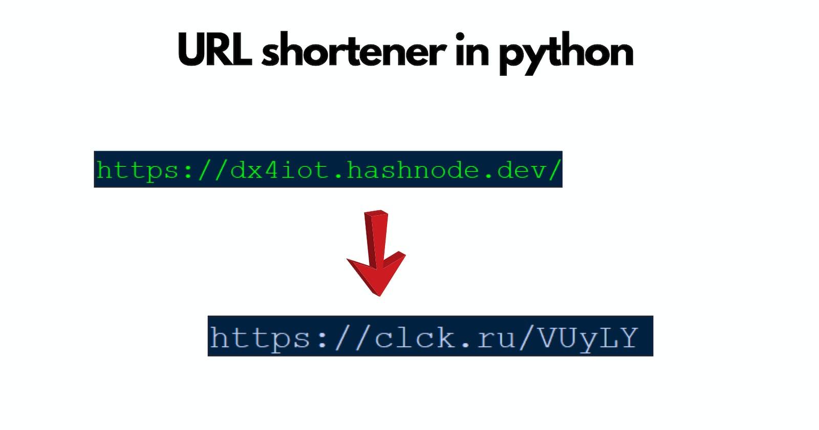 URL shortener in python
