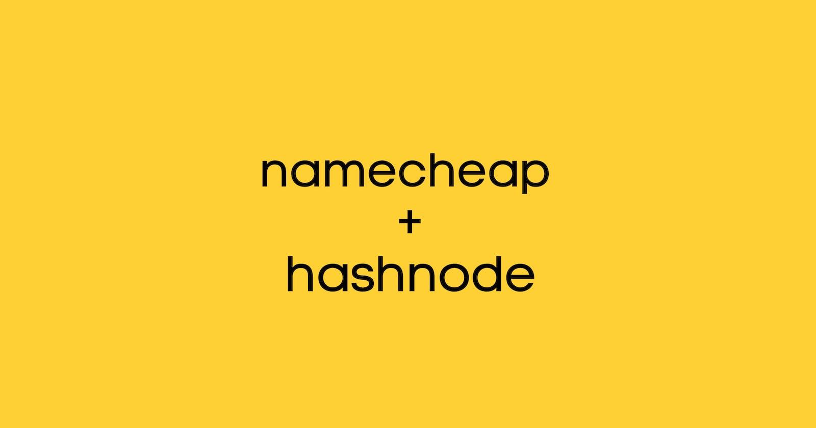 Integrate your namecheap custom domain with hashnode