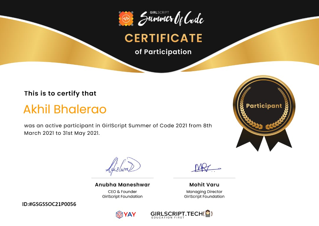 GSSOC - Certificate - Akhil Bhalerao.png