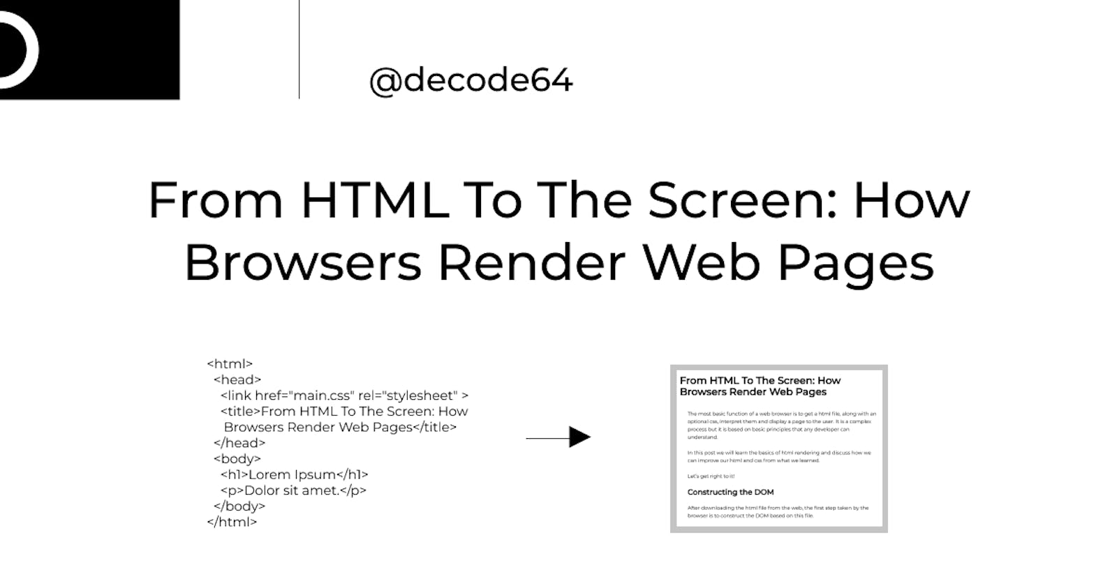 From HTML To The Screen: How Browsers Render Web Pages