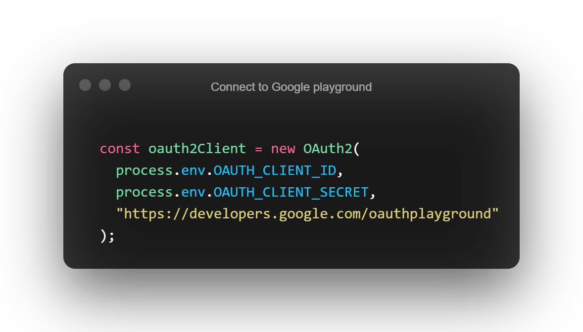 Connect to Google playground