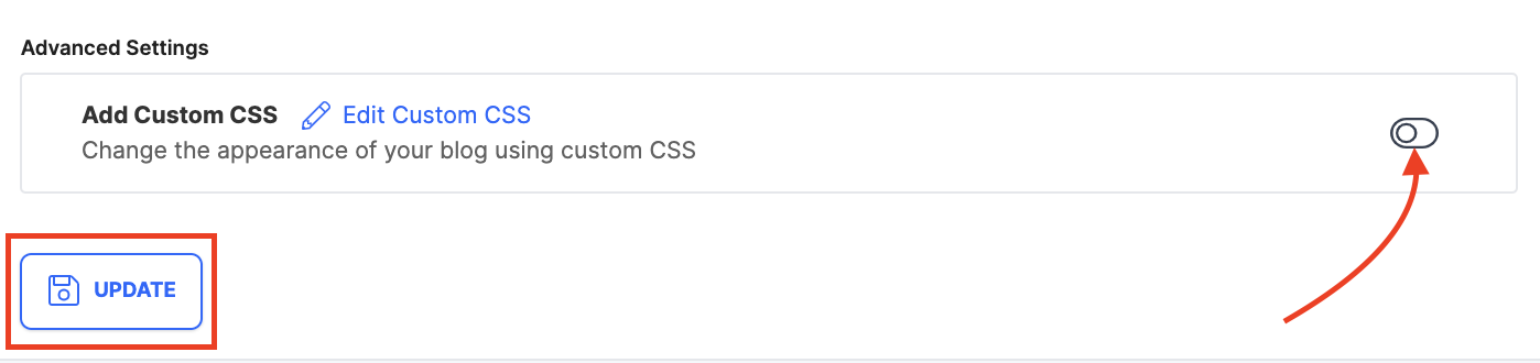 Enable custom CSS