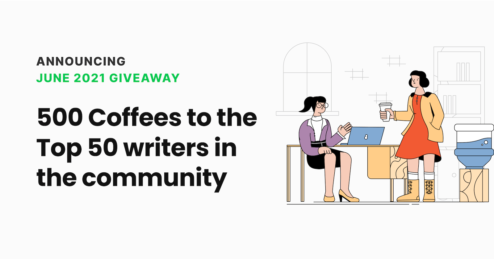 Hashnode June Giveaway! 💸 ☕️ 500 coffees to the top 50 writers in the community.