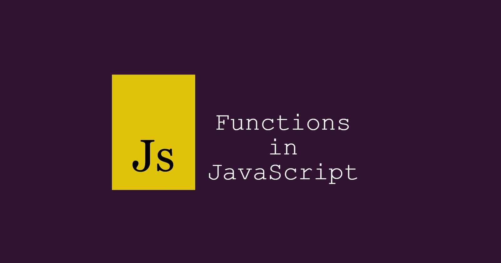 Different types of functions in JavaScript