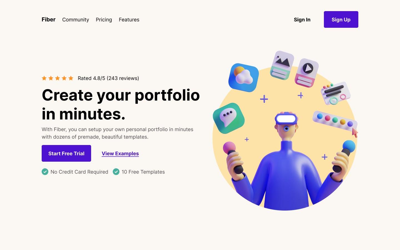 Bootstrap Navbar for Fiber