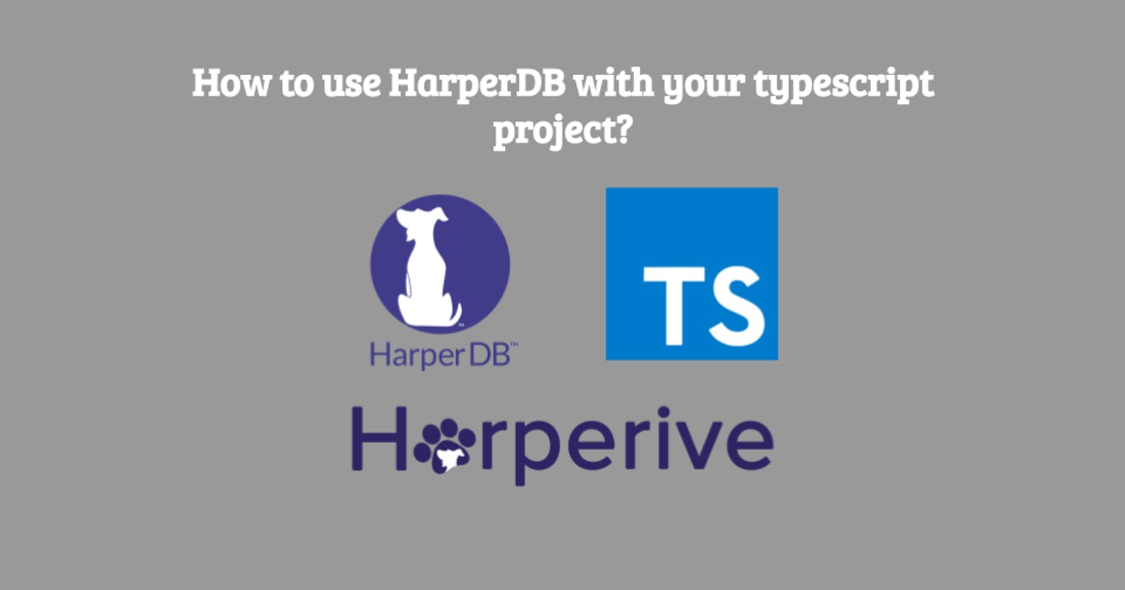 How to use HarperDB with your typescript project?