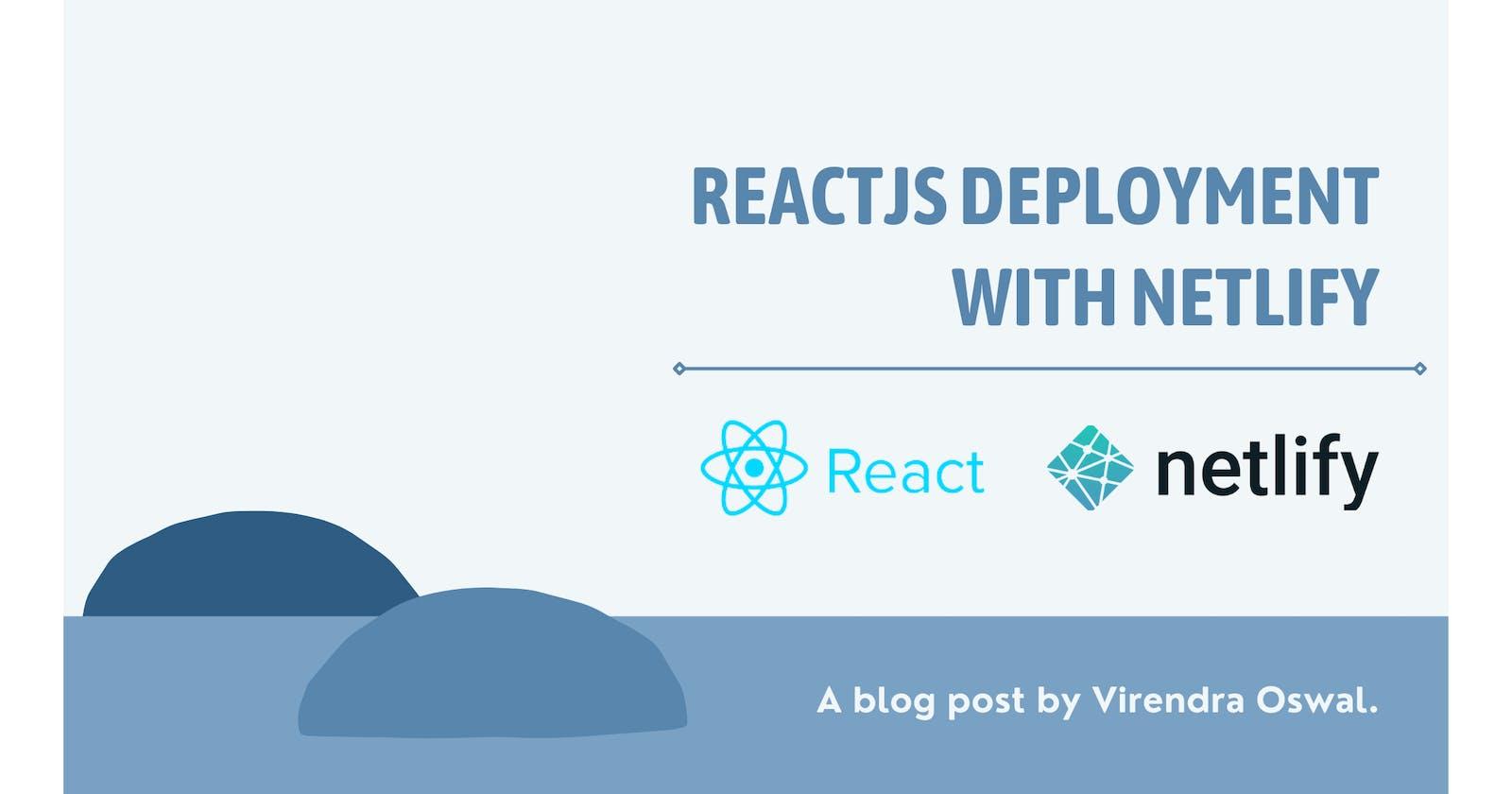 Host ReactJs application using Netlify