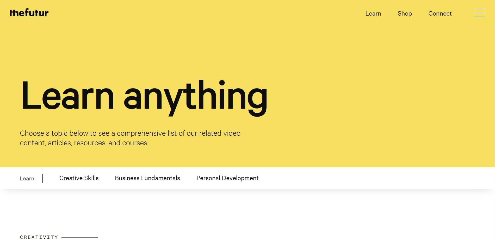 The Futur website
