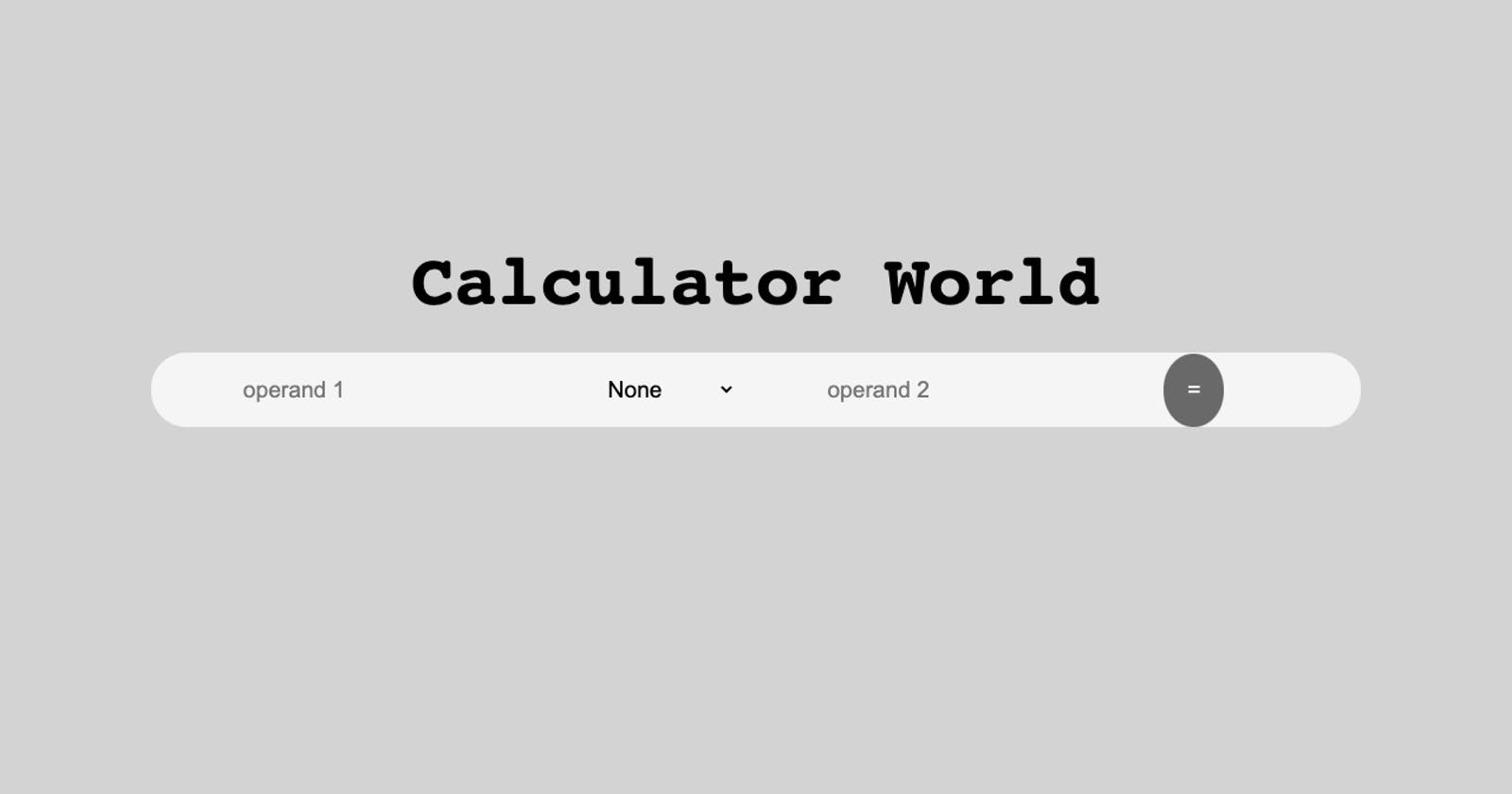 Build a Calculator with PHP