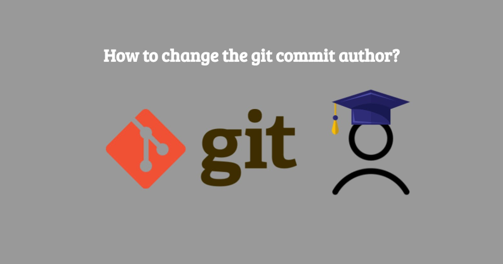 How to change the git commit author?
