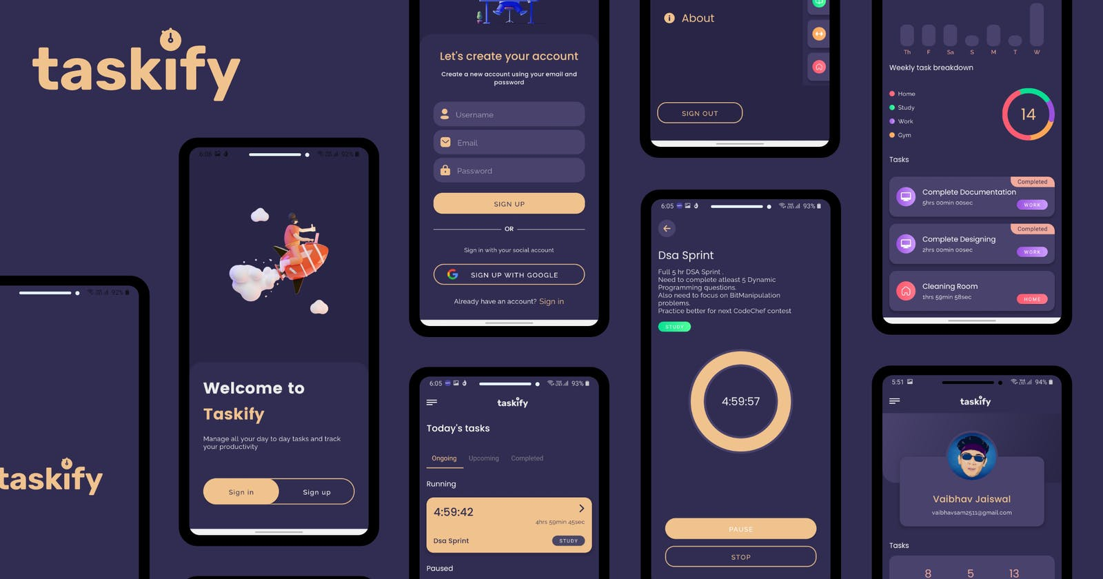 Taskify - An app to manage your daily tasks and boost your productivity - HarperDB Hackathon