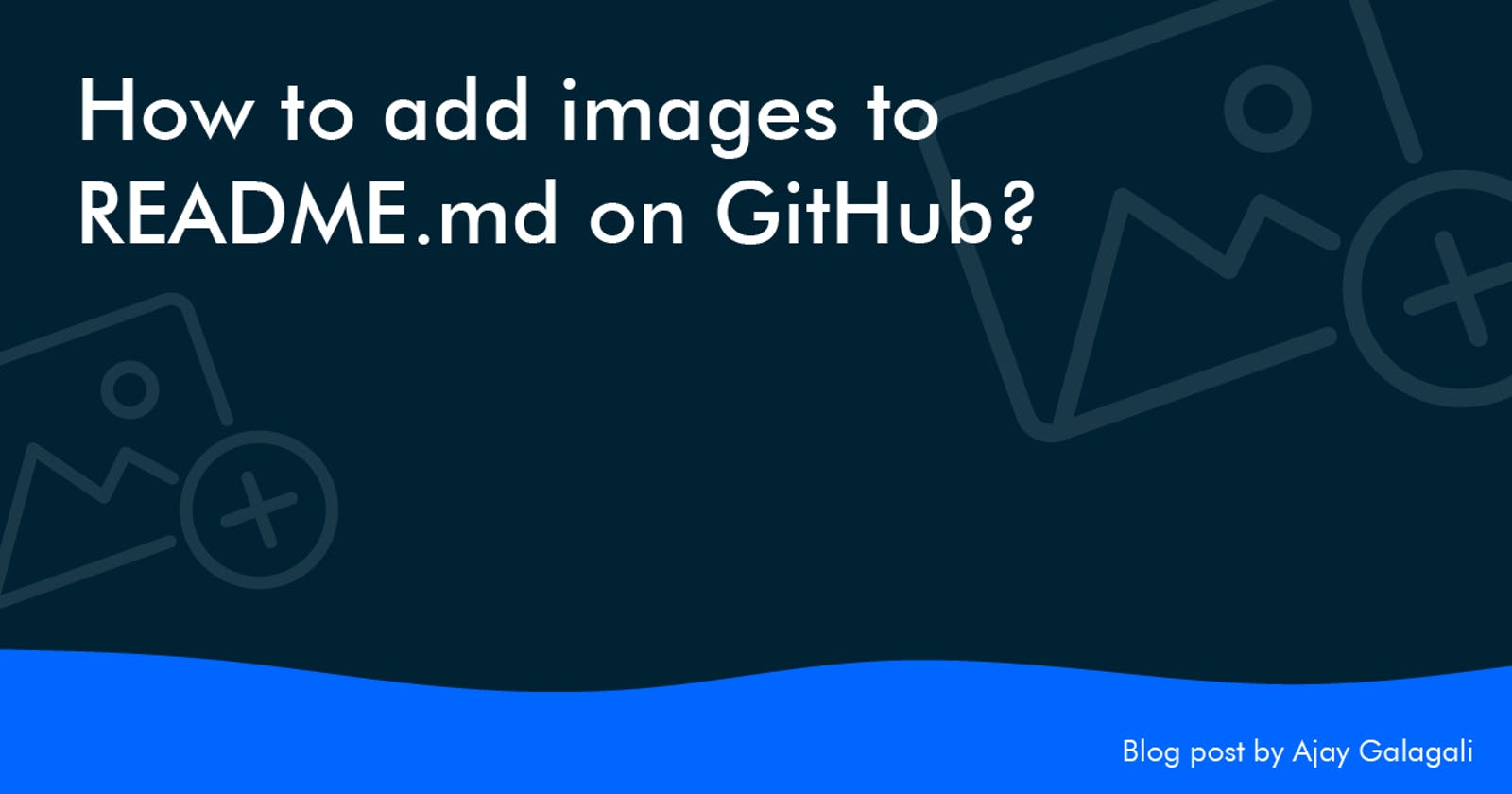 How to add images to README.md on GitHub?