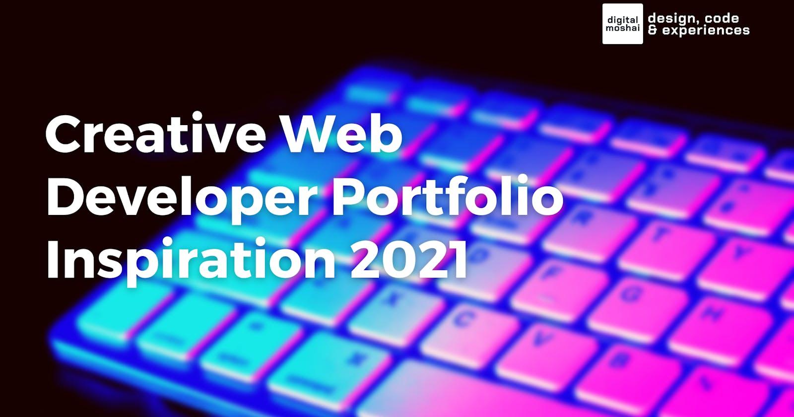 11+1 Creative Web Developer Portfolios for Inspiration - 2021